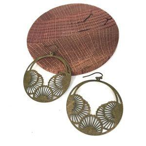 Bronze Boho Dangle Earrings